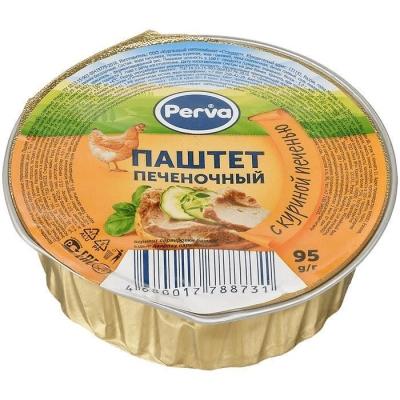 Паштет Печёночный с куриной печенью Курганский мясокомбинат Perva круг