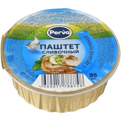 Паштет Сливочный с гусиной печенью Курганский мясокомбинат Perva круг