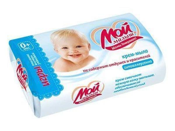 Крем-мыло не содержит отдушек и красителей