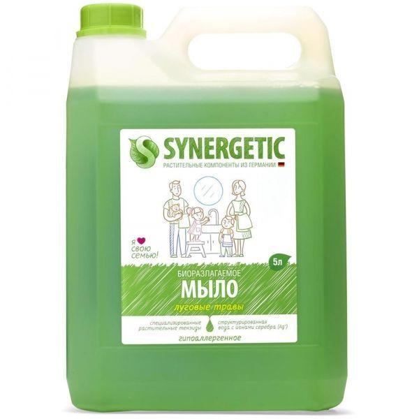 Мыло жидкое для рук и тела Synergetic Луговые травы