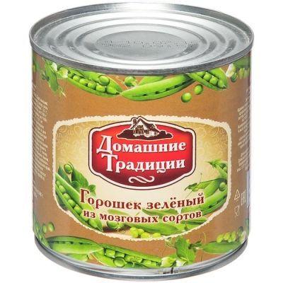 Горошек зеленый Домашние Традиции ГОСТ 1 сорт ж/б