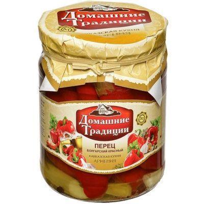 Перец Болгарский красный Домашние Традиции в растительном масле с/б