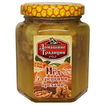 Мед натуральный Домашние Традиции с грецким орехом ГОСТ ст/б