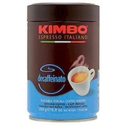 Кофе Kimbo Эспрессо без кофеина Decaffeinato молотый ж/б