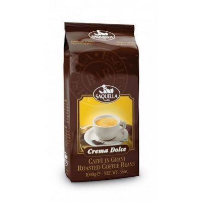 Кофе Saquella в зернах жареный Crema Dolce