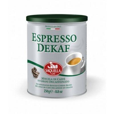 Кофе Saquella зерно без кофеина Espresso Dekaf жесть