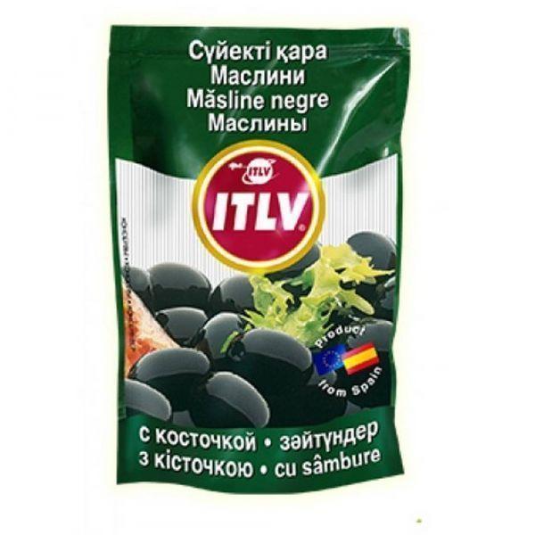 Маслины ITLV черные с косточкой дой-пак