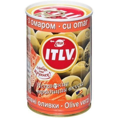 Оливки зеленые ITLV с омаром ж/б