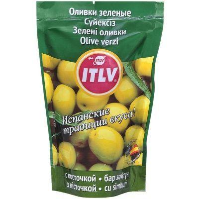 Оливки зеленые ITLV с косточкой дой-пак