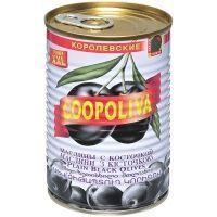 Маслины Coopoliva королевские с косточкой 80/120 ж/б
