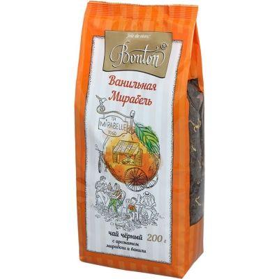 Чай Bonton Ванильная мирабель черный с ароматом мирабели и ванили крупнолистовой м/у