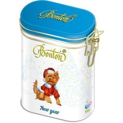Чай Bonton Новогодний черный крупнолистовой ж/б