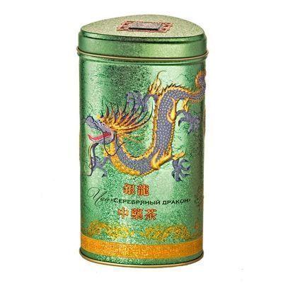 Чай зеленый Зеленая Панда кр.лист Серебряный Дракон с ароматом жасмина ж/б