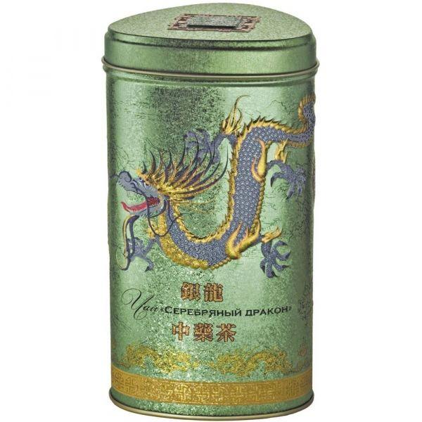 Чай Зелёная Панда зеленый крупнолистовой с жасмином Серебряный Дракон ж/б