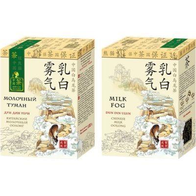 Чай Зеленая Панда Молочный туман байховый китайский крупнолистовой с ароматом молока