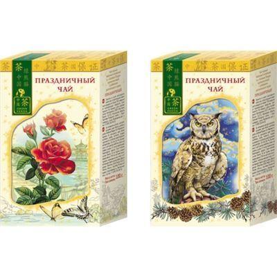 Чай Зеленая Панда Праздничный Роза черный крупный лист