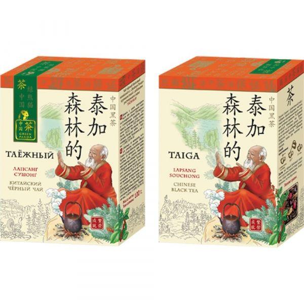 Чай Зеленая Панда черный крупнолистовой Таежный карт