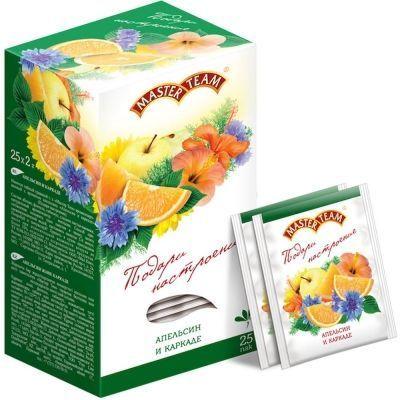 Чай Мастер Тим Апельсин-Каркадэ травяной с каркадэ, фенхелем и натуральным ароматом апельсина 25 пак.