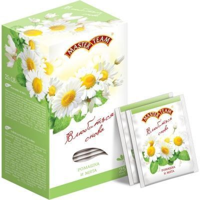 Чай Мастер Тим Ромашка-Мята травяной с ромашкой, мятой и ароматом белой акации 25 пак.