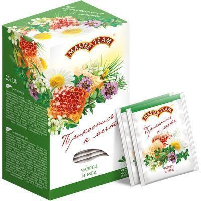 Чай Мастер Тим Чабрец-Мед травяной с чабрецом, ройбушем и натуральным ароматом меда 25 пак.