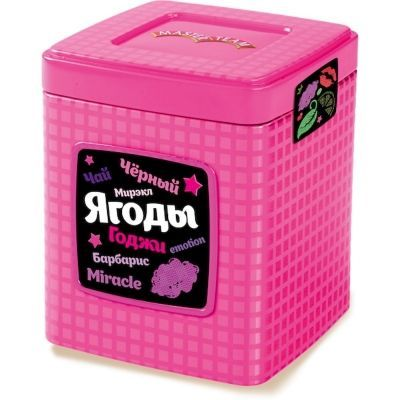 Чай Мастер Тим черный с ягод Годжи Мирэкл ж/б фиолетовый, лиловый, розовый