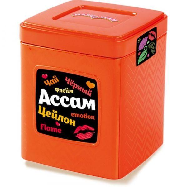Чай Мастер Тим черный Ассам+Цейлон Флейм ж/б красный, оранжевый, желтый