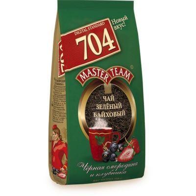 Чай Master Team Черная смородина и клубника зеленый ароматизированный крупнолистовой