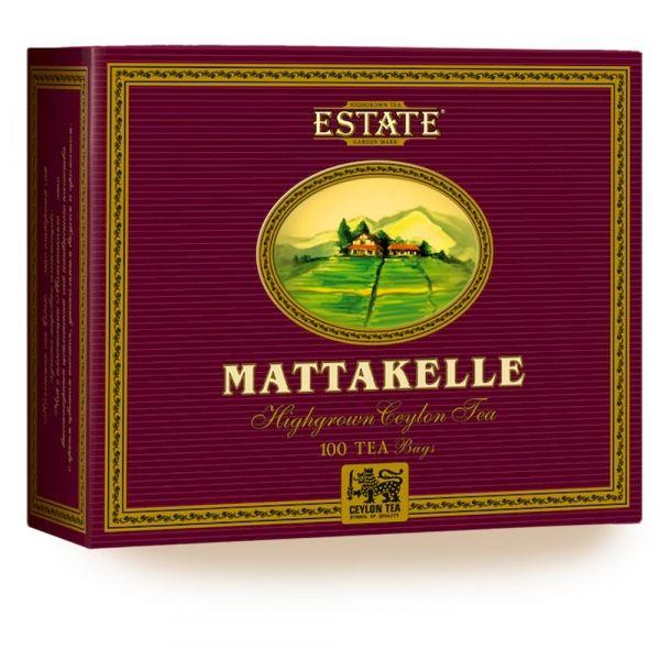 Чай Estate Маттакелле черный байховый цейлонский 100 пак. картон