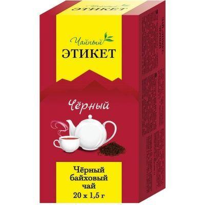 Чай Этикет черный Черный 20 пак. б/я