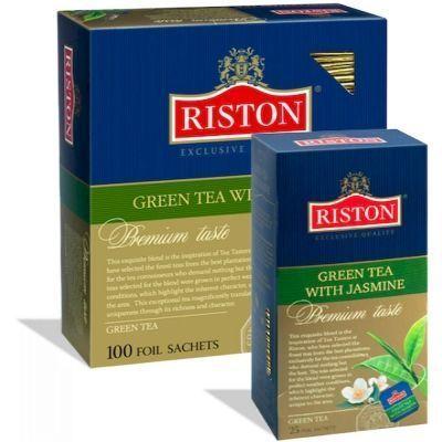 Чай Ристон Грин с жасмином зелёный ароматизированный 100 пак.