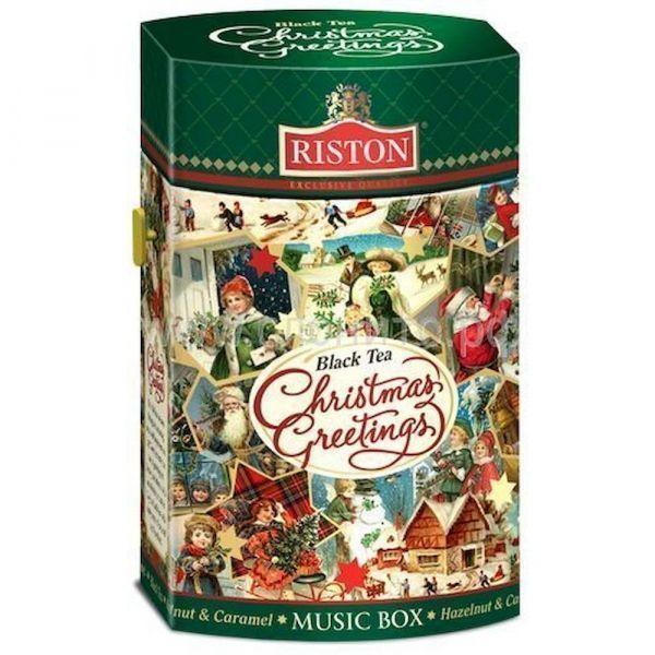 Чай Ристон черный Рождественские поздравления картон