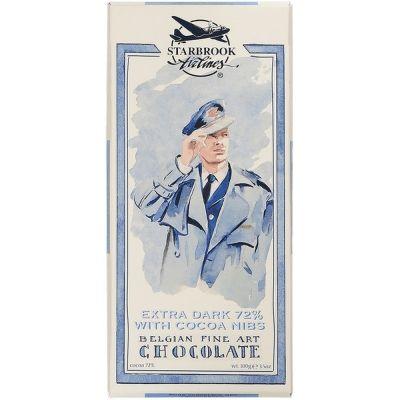 Шоколад Starbrook Airlines горький какао 72% с кусочками какао
