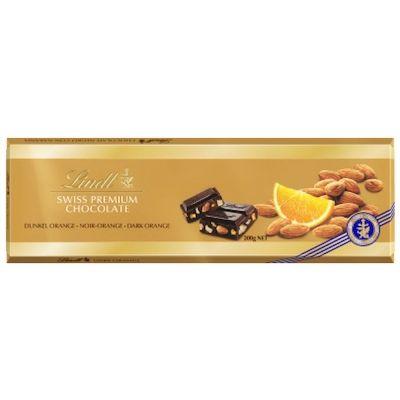 Шоколад Lindt Голд Горький с Апельсином и Миндалем