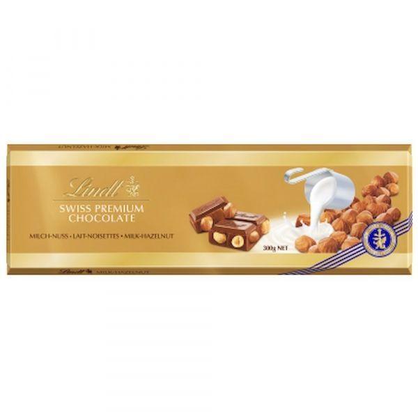 Шоколад Lindt Голд Молочный с цельным фундуком