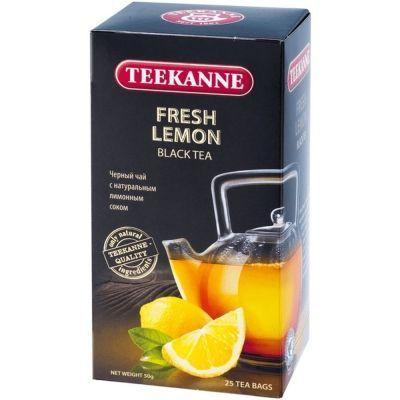 Чай Teekanne черный Фреш Лимон Fresh Lemon 25 пак. конверт