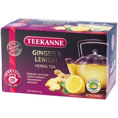 Чайный напиток фруктовый Teekanne Джинжер-Лемон Ginger-Lemon 20 пак. конверт