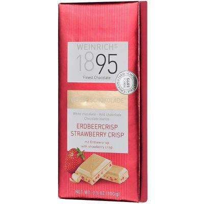Шоколад Weinrich`s 1895 Белый с клубничным криспи