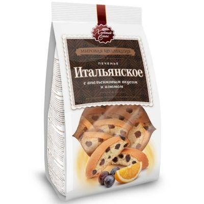 Печенье сдобное Хлебный Спас Итальянское с апельсиновым вкусом и изюмом
