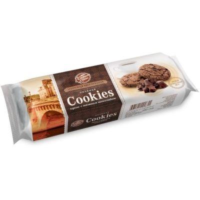 Печенье сдобное Хлебный Спас Кукис шоколадное с шоколадом