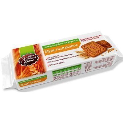 Печенье сдобное Хлебный Спас Мультизлаковое на фруктозе