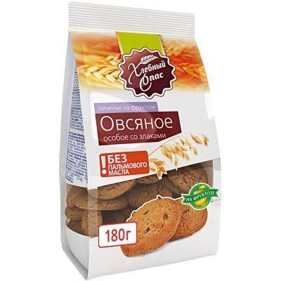 Печенье сдобное Хлебный Спас Овсяное Особое на фруктозе