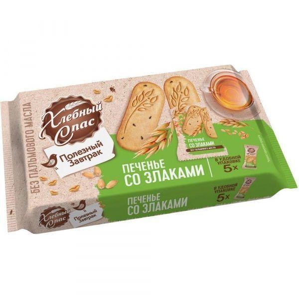 Печенье сдобное Хлебный Спас Полезный завтрак со злаками