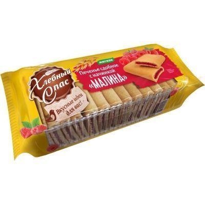 Печенье сдобное Хлебный Спас с начинкой Малина