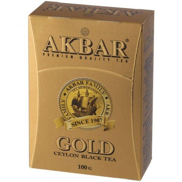 Чай Акбар Золотой FBOP черный среднелистовой (красная пачка)
