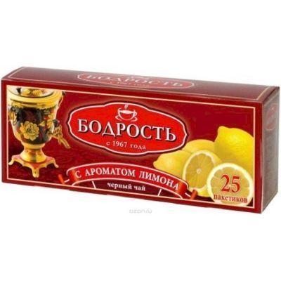 Чай Бодрость Лимон черный байховый мелкий 25 пак. с/я