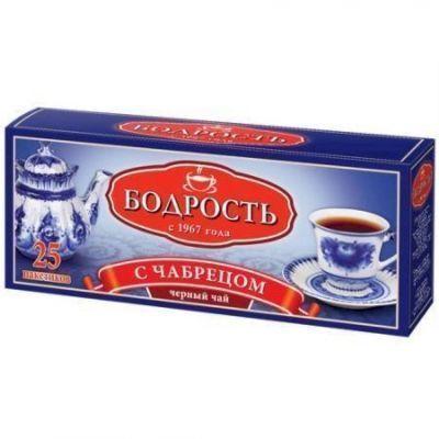 Чай Бодрость С Чабрецом черный байховый мелкий 25 пак. с/я