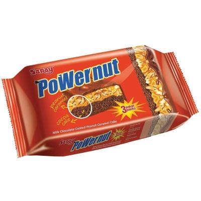 Бисквит Saray Powernut с карамельно-арахисовой начинкой покрытый шоколадом