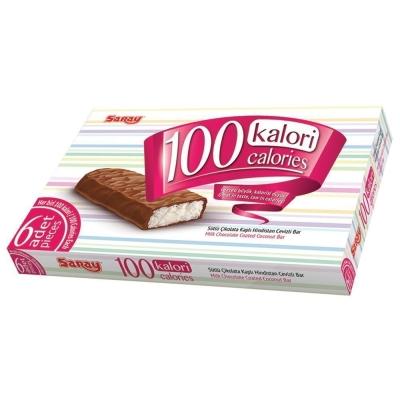 Батончик шоколадный Saray 100 Calories с начинкой из кокоса покрытый молочным шоколадом