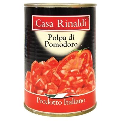Кусочки очищенных помидоров Casa Rinaldi в томатном соке