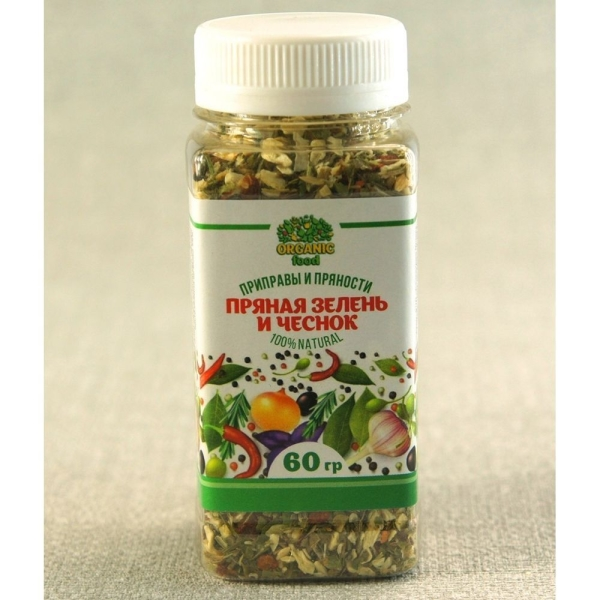 Пряная зелень и чеснок Organic food